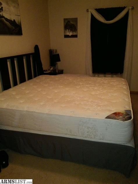 armslist for sale king size mattress and boxsprings
