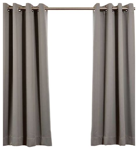 grey blackout curtains grommet neutral grommet grey blackout curtain single panel 50