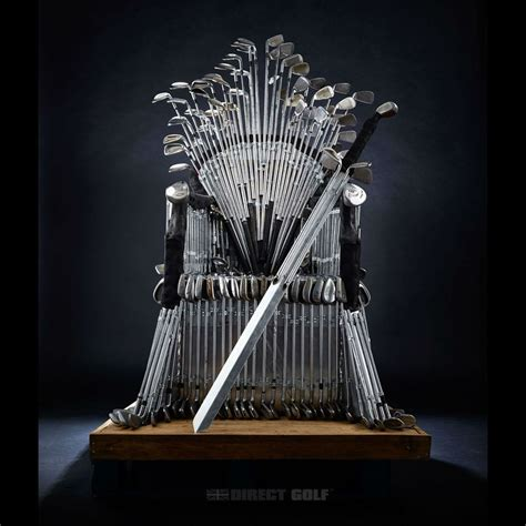 Iron Throne Chair by Golfer And Of Thrones Fan Build A Five Iron Throne
