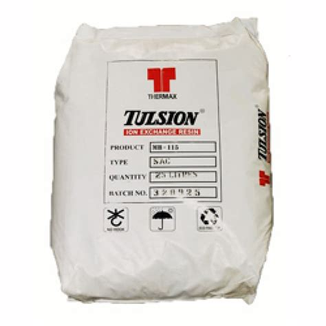 Resin Tulsion 1 x 25 litres tulsion mb115 polymer mixed bed resin