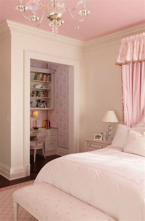 girls pink bedroom wright building company girl s rooms ivory walls