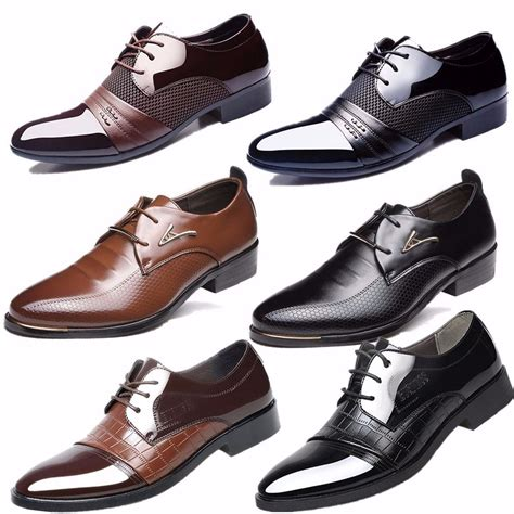 business dress formal leather shoes flat oxfords lace