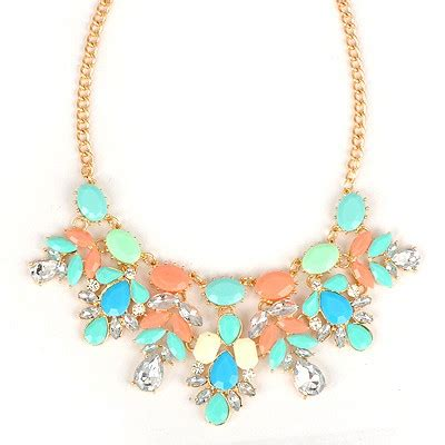 Gemstone Lariats From Sweet Sky Jewelry by Lariat Multicolor Gemstone Tassel Pendant Design Alloy Bib