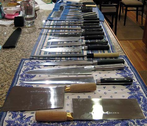 kitchen knife collection comparing a few japanese knives kitchen consumer