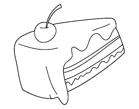 coloring pages of a piece of cake piece of cake coloring page coloringcrew com