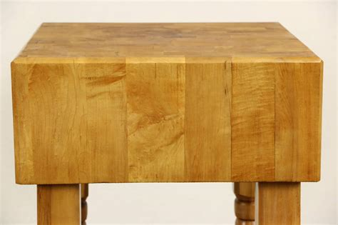 butcher chopping block maple kitchen island or wine table