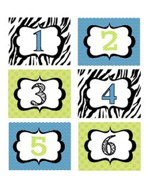 free printable zebra print numbers 17 best images about printable 1 2 3 4 5 6 7 8 9 10 on