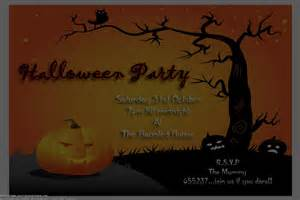 free halloween birthday invitations template
