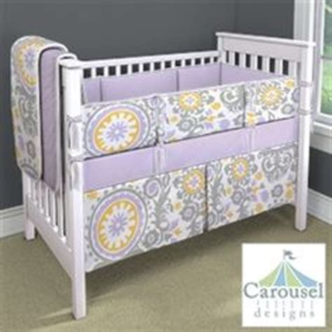 Purple And Yellow Crib Bedding by Baby Smith On Yellow Gray Nurseries Baby