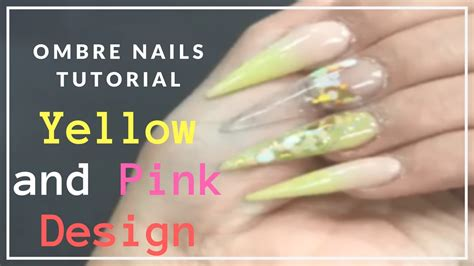youtube tutorial ombre ombre nails youtube tutorial yellow and pink acrylic ombre