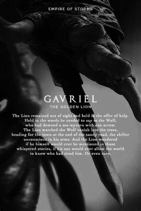 Empire of Storms - Gavriel [Spoilers]   Throne of glass