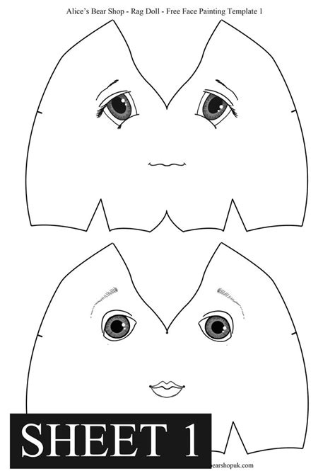 rag doll template free rag doll painting templates s shop