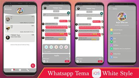 tema whatsapp ios  putih versi terbaru