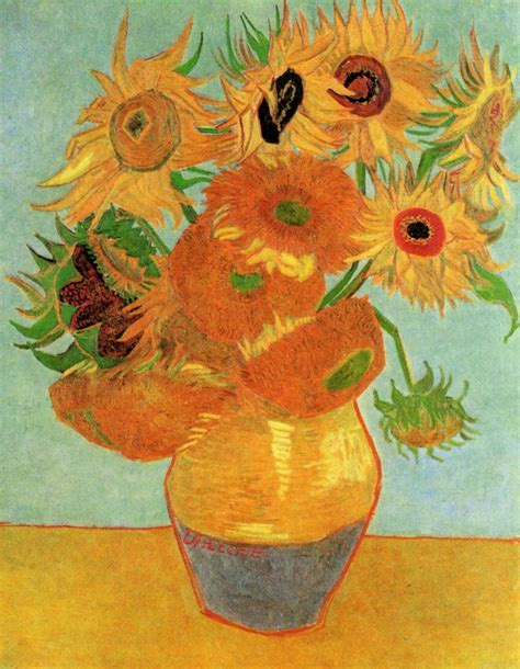 vincent gogh on still sunflowers and