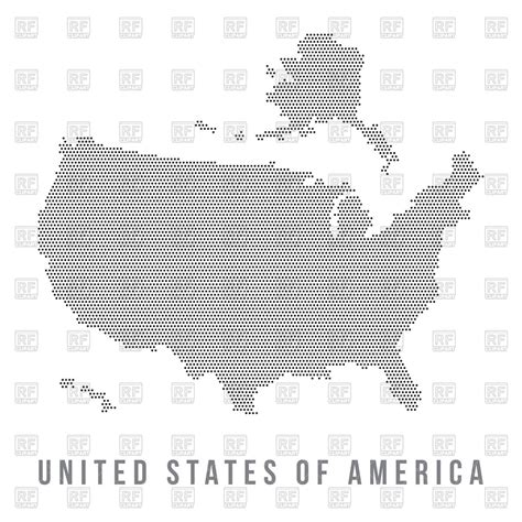 usa map vector free dotted usa map royalty free vector clip image 64466