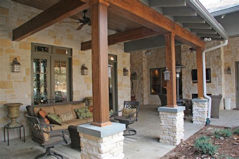 hill country house traditional patio other