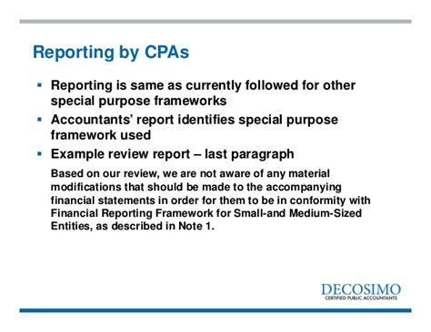 plans for private company reporting