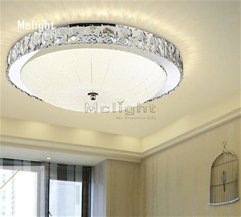 Luxury Led Flush Mount Round Crystal Ceiling Lights Living Room Ceiling Light Fixture