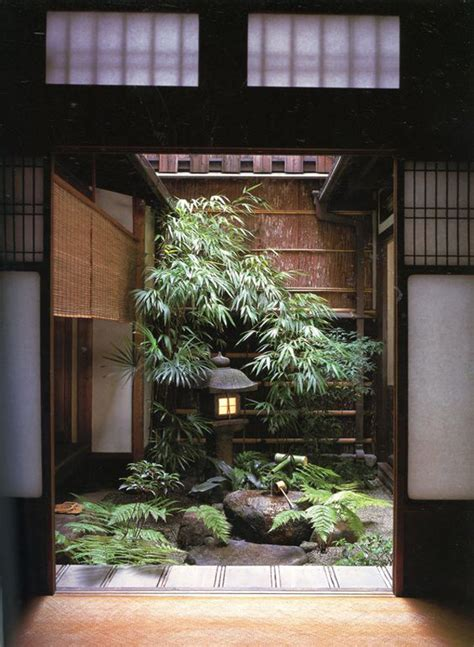 mix modern japanese courtyard  nature house
