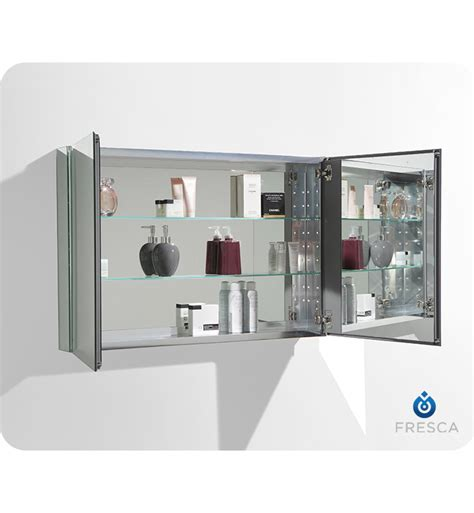 fresca 40 quot wide bathroom medicine cabinet w mirrors direct to you furniture fresca fmc8010 40 quot wide bathroom medicine cabinet with mirrors