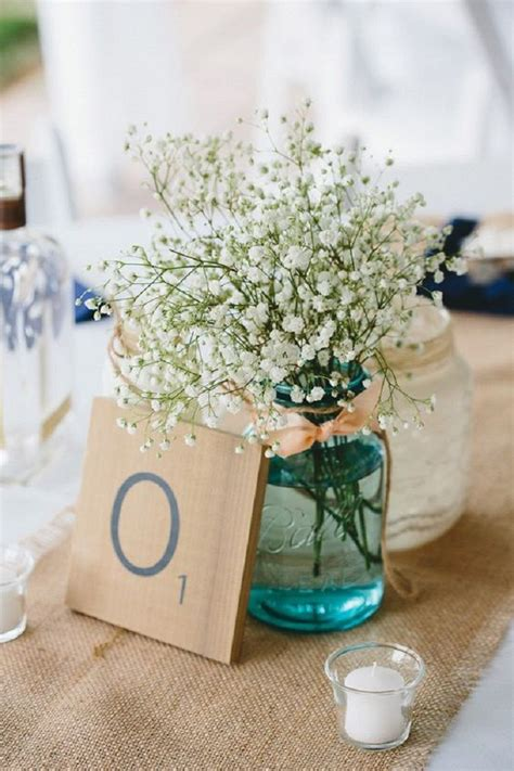 jar centerpieces ideas for wedding reception