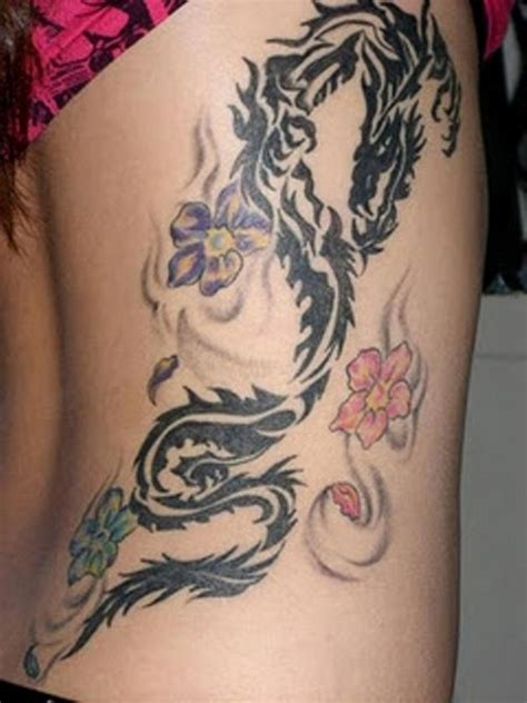 dragon and flower tattoo designs 75 designs for and