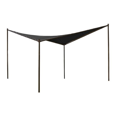 coolaroo gazebo coolaroo 4 x 4m charcoal square butterfly semi permanent