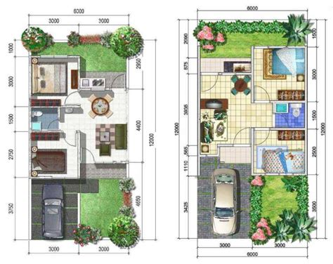 desain interior rumah minimalis ukuran 6x12 15 contoh denah rumah minimalis modern nyaman dan