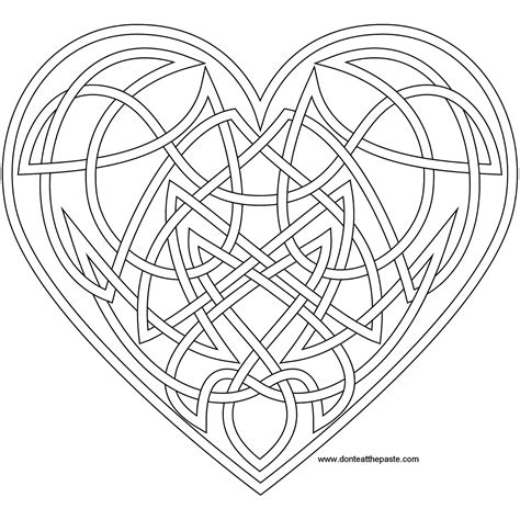 knotwork heart coloring page also available as a