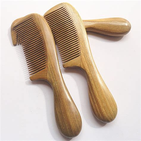 Handmade Hair Brushes - handmade sandalwood anti static comb beard and mustache