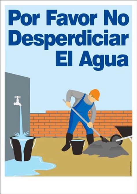 Home Kitchen Design Price by Por Favor No Desperdiciar El Agua Safety Poster Shop