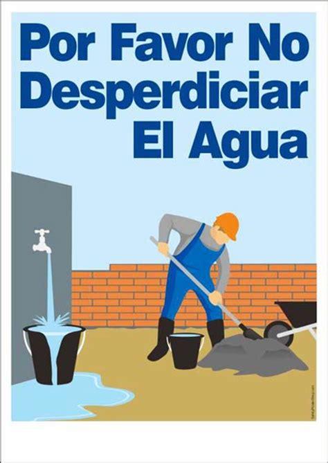 por favor no desperdiciar el agua safety poster shop