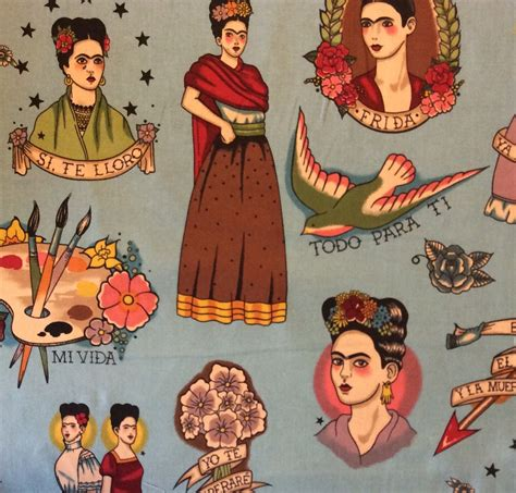 frida kahlo fabric amp decor
