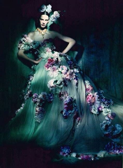 Editorial Dress Of The Month Dolce Gabbana by Dolce Gabbana Strapless Gown Coupled With The Blossoms