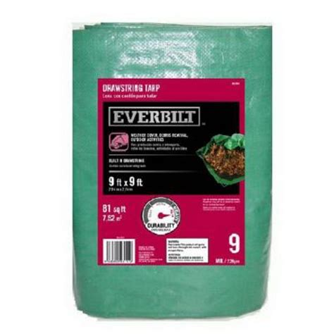 everbilt 9ft x 9ft drawstring tarp 5 83 or ust 10ft x