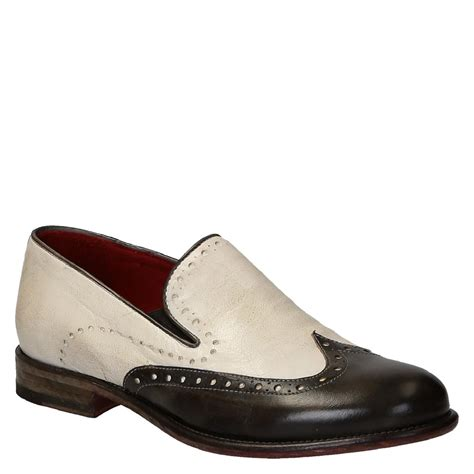 toe shoes handmade s two tone loafers wingtip toe shoes