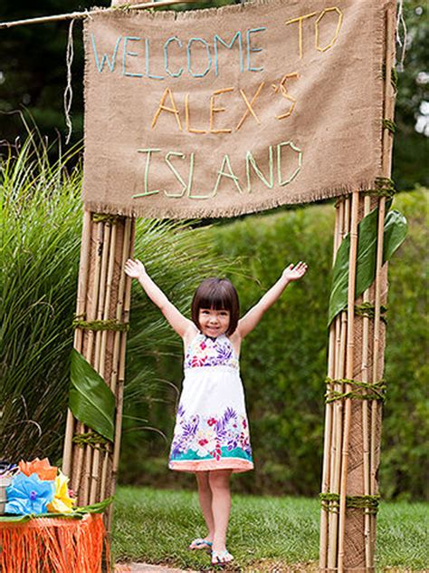 Backyard Ideas For 10 Year Olds Luau Theme Birthday