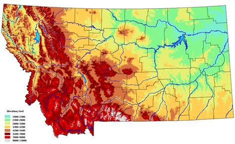 geographical map of montana montana maps