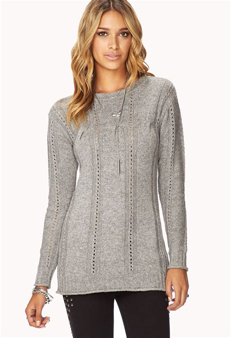 cable knit tunic sweater forever 21 contemporary cable knit tunic sweater you ve