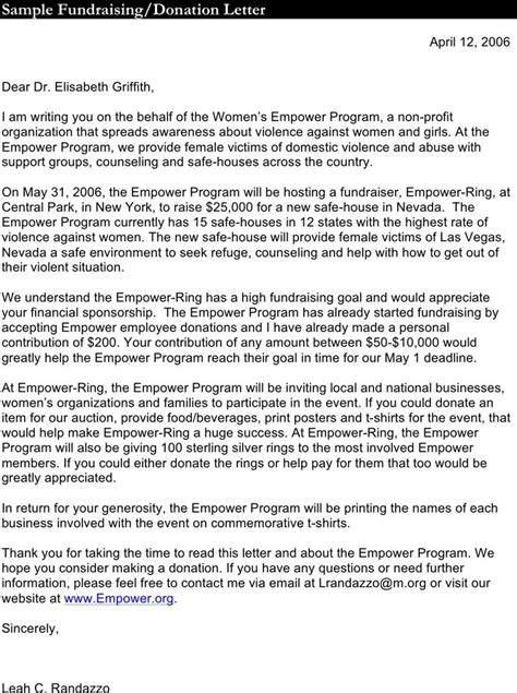 Donation Procurement Letter Donation Letter Template 1 Fight Against Breast Cancer