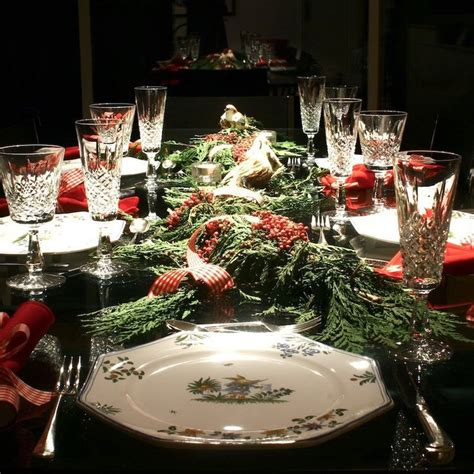 christmas dinner table settings 784 best images about christmas table decorations on