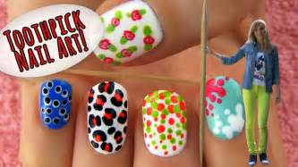 toothpick nail 5 nail designs ideas using only