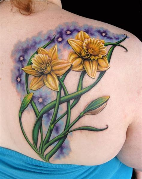 daffodil tattoo 30 lovely and peaceful daffodil designs