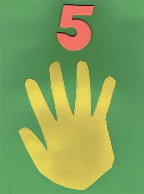 craft ideas for 5 number 5 theme day