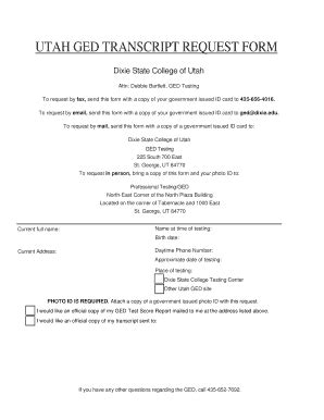 Ged Verification Letter Copy Of Ged Fill Printable Fillable Blank Pdffiller