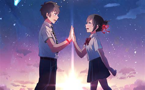 wallpaper hd kimi no nawa anime your name mitsuha miyamizu taki tachibana kimi no