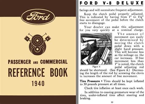 reference books ca ford 1940 ford passenger commercial reference book