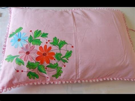 Fabric Painting Pillow Covers Designs by Easy Method Of Fabric Painting A Floral Pillow In