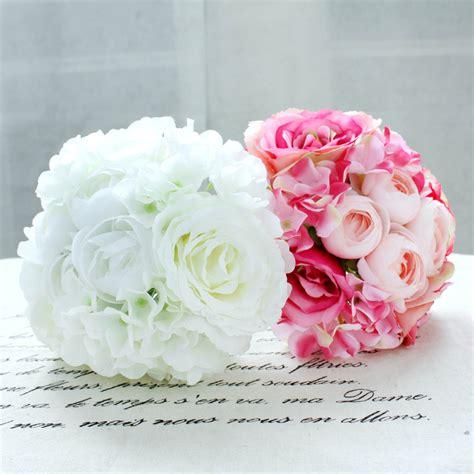 36 Pcs Artificial Silk Hydrangea Flower Floral Wedding 11pcs Lot Peony Silk Artificial Flower Bridal Bridesmaid Hydrangeas Bouquet Wedding Flowers