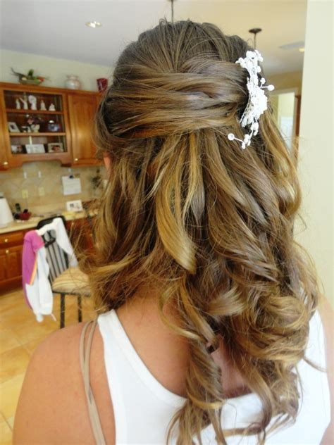 prom hairstyles down back view blonde half up half down wedding hairstyles back view